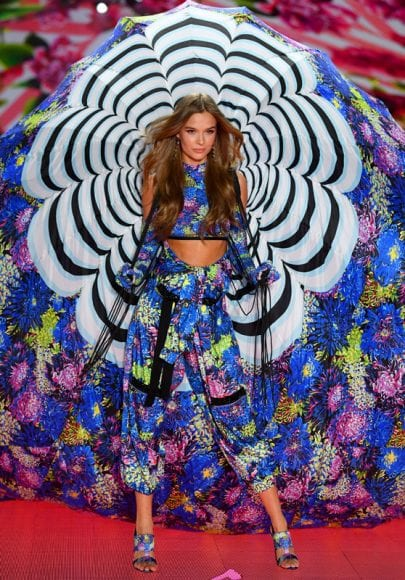 NEW YORK, NY - NOVEMBER 08:  Josephine Skriver walks the runway during the 2018 Victoria's Secret Fashion Show at Pier 94 on November 8, 2018 in New York City.  (Photo by Dimitrios Kambouris/Getty Images for Victoria's Secret)