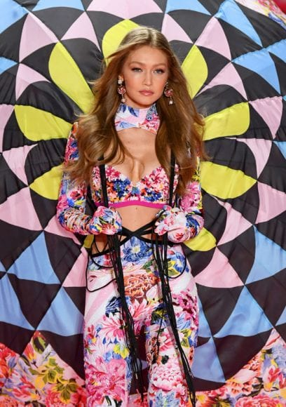 NEW YORK, NY - NOVEMBER 08:  Gigi Hadid walks the runway during the 2018 Victoria's Secret Fashion Show at Pier 94 on November 8, 2018 in New York City.  (Photo by Dimitrios Kambouris/Getty Images for Victoria's Secret)