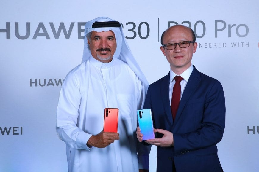 H.E Saeed Hareb, Secretary General of Dubai Sports Council and Mr.Gene Jiao, President of Huawei CBG - MEA