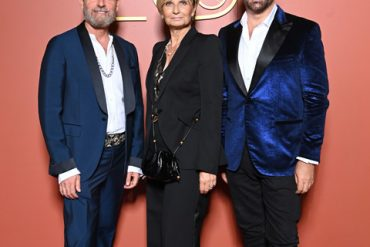 MILAN, ITALY - SEPTEMBER 23: Vincenzo Castaldo, Sabina Belli and Stephane Gerschel attend the Pomellato Nudo 20th Anniversary Event on September 23, 2021 in Milan, Italy. (Photo by Daniele Venturelli/Daniele Venturelli/Getty Images for Pomellato )